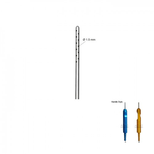 Infiltrator liposuction cannula, with one piece handle
