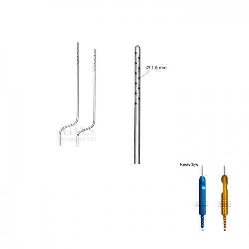 Baynoet Infiltrator liposuction cannula, with one piece handle
